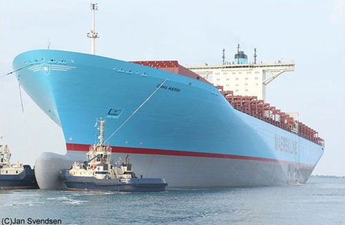 The Emma Maersk, photo by Jan Svensten