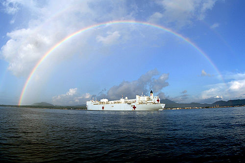 US Navy photo of the USNS Mercy