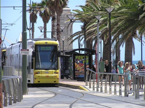 Beautiful seaside Adelaide tram photo by Soak01
