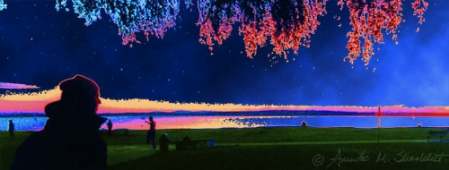 Along The Shore, photo taken by Gretchen Sidener, manipulation by Annette Shacklett