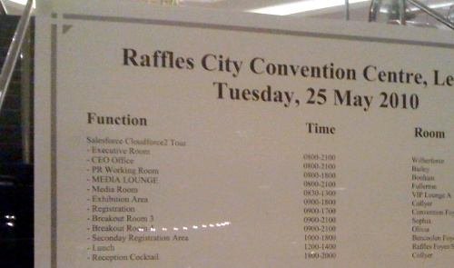 Raffles City Convention Centre sign for CloudSourceSG