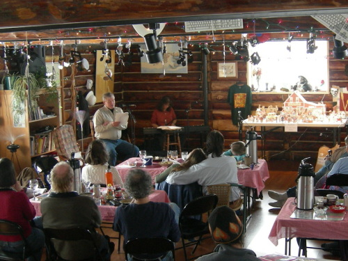 Ed Craver and Esther Golton at the Wheat Palace in Talkeetna, Alaska, USA