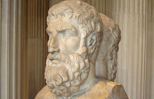 Epicurus bust at the Louvre