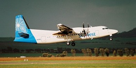 Fokker 50 photo by Wikipedia user YSSYguy