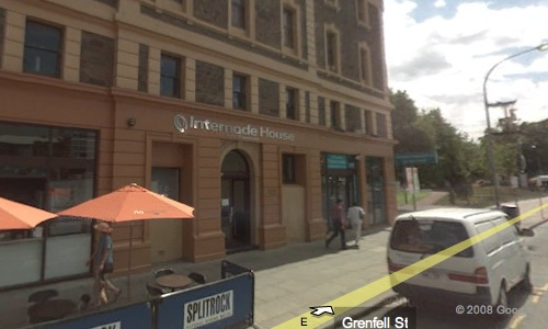 Internode House on Grenfell St, from Google Maps street view