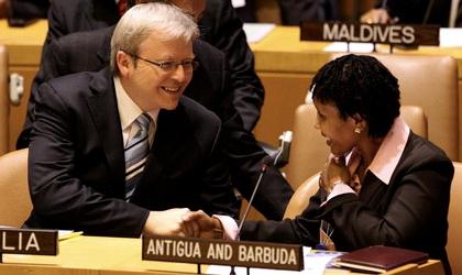 Prime Minister Kevin Rudd in New York, 25th September 2008