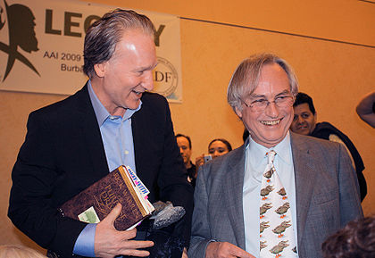 Bill Maher with Richard Dawkins by Bbsrock on Wikipedia
