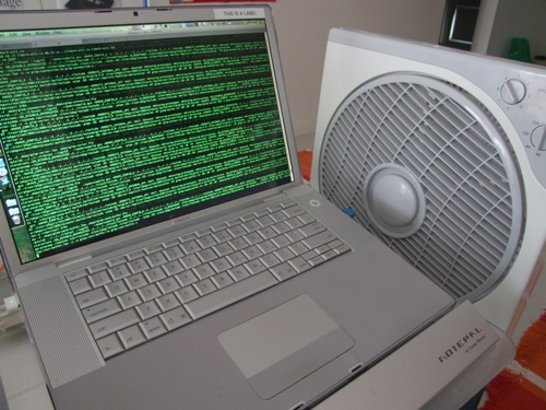 My sophisticated MacBook Pro cooling system