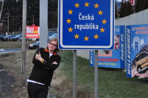 Me on the Czech-German border earlier this year