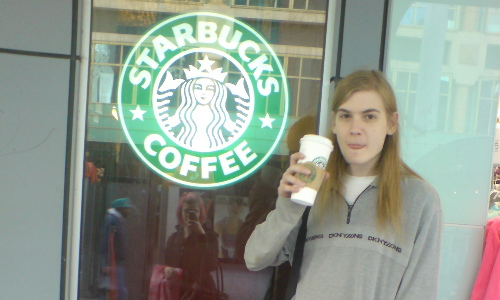 Very unflattering photo of me outside the Rundle Mall Starbucks. It will be gone by tomorrow.