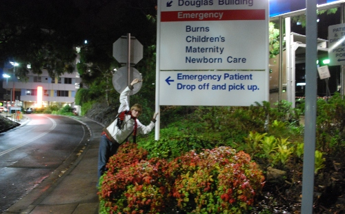 Me outside the Royal North Shore hospital in Sydney, where I was born!