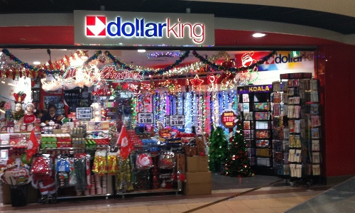 Photo outside the DollarKing store.