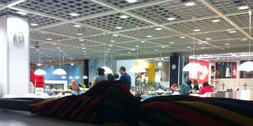 View of the IKEA showroom floor