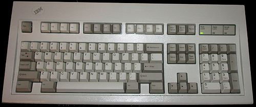 IBM Model M keyboard, by BorgHunter on Wikipedia