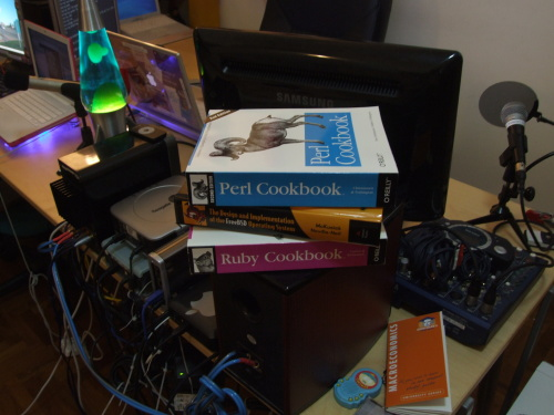 Happiness is a stack of new interesting computer books!