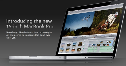 The new MacBook Pro as advertised on the Apple website