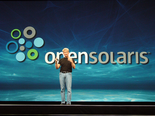 OpenSolaris being introduced to the world by Rich Green
