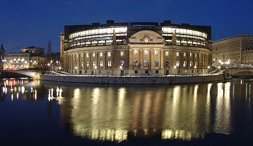 Photo of the Swedish Riksdagshuset by User:BillC