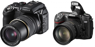 The FinePix S9600 and the Nikon D90