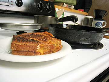 Sparx's grilled cheese sandwich