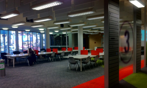 View inside UTS library with nobody inside.