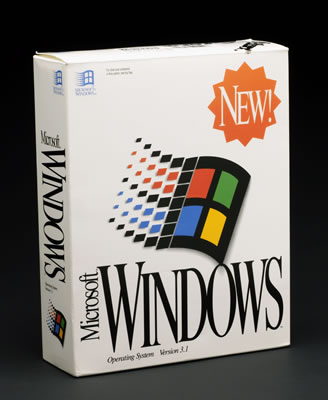 Original carton box of Windows 3.1