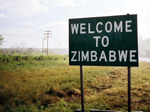 Welcome to Zimbabwe sign, by the writer of the Esibayeni Diaries