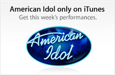 An American Idol music promotion on iTunes