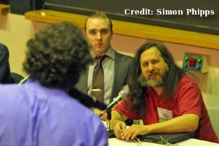 Richard Stallman at the launch of the GPL v3
