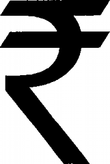 New Rupee sign.