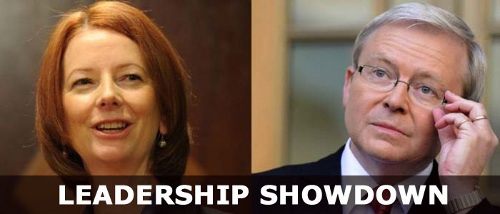 Leadership Showdown: Julia Gillard and Kevin Rudd