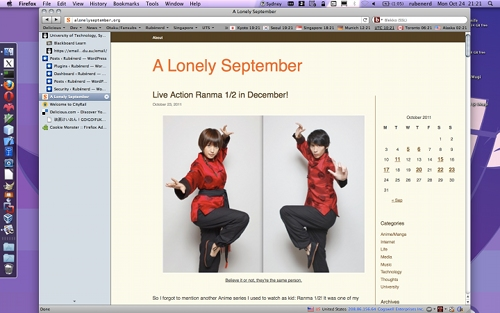 Screenshot of the Lonely September site.