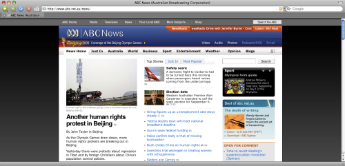 Beijing 2008 Olympics on ABC News