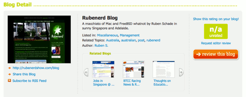Blogged.com categorises this blog as… management?