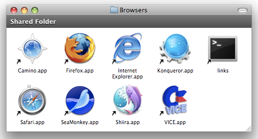 Mac OS X web browsers