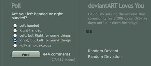 Screenshot from a DeviantArt poll