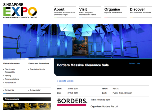 Borders Clearance Sale at Expo