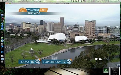 Sunrise live weather image of Adelaide