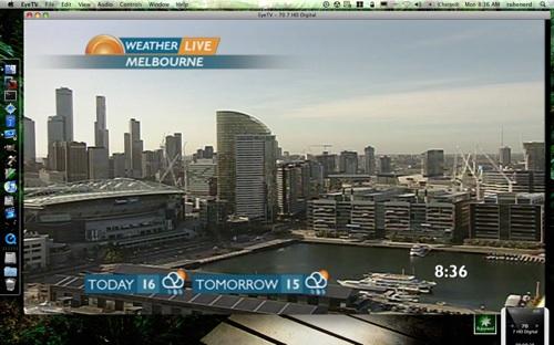 Sunrise live weather image of Melbourne