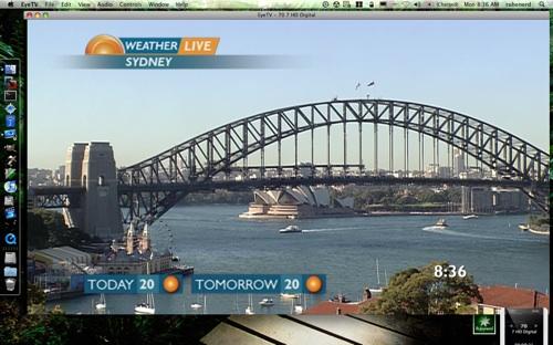 Sunrise live weather image of Sydney
