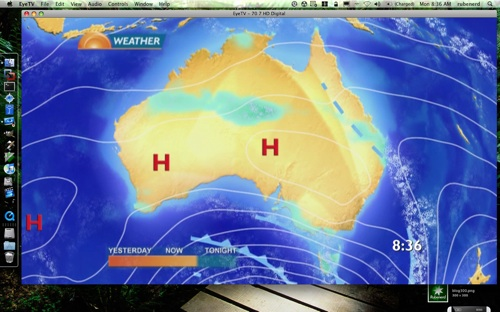 Sunrise weather map for today