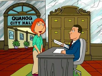 Frame from Family Guy