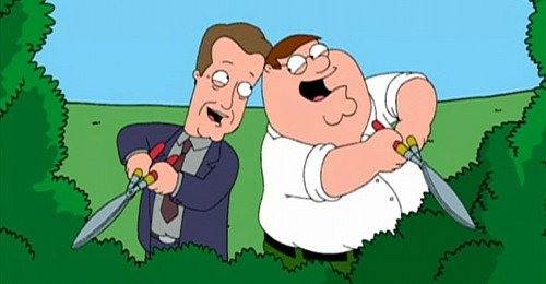 James Woods with Peter Griffin