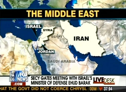 Fox News labelling Iraq as Egypt