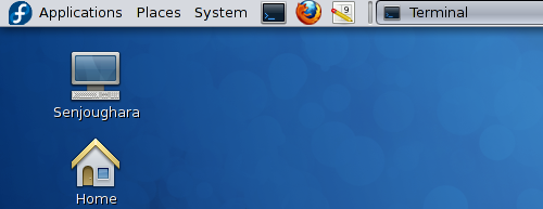 Fedora 12 running on a ThinkPad X40