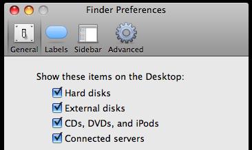 Finder preferences window