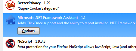 Microsoft installing Firefox extension without permission.