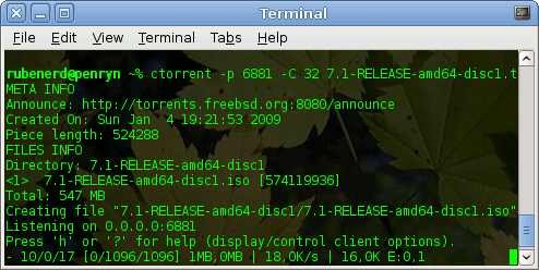 Getting FreeBSD 7.1 torrenty goodness!
