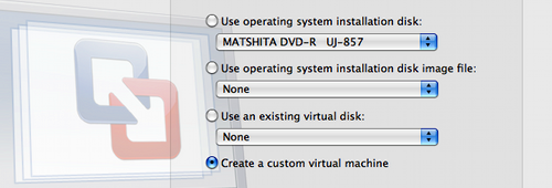 VMware Fusion 2.0 beta 2 New Virtual Machine Assistant
