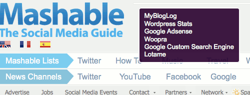 Ghostery on Mashable